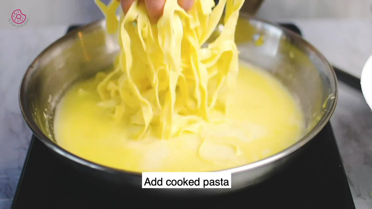 Image of the cooking step-1-7 for No Cream Fettuccine Alfredo
