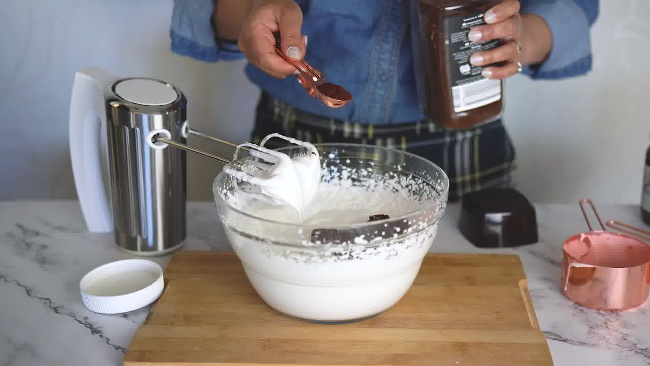 Image of the cooking step-1-3 for 3-Ingredient Nutella Mousse