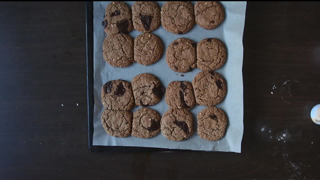 Image of the cooking step-1-8 for Oatmeal Peanut Butter Chocolate Cookies (Video Recipe)