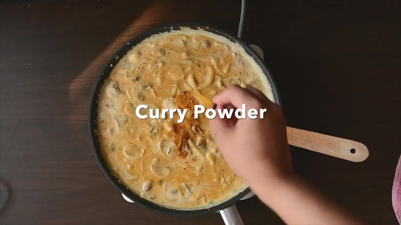 Image of the cooking step-1-8 for One Pan Thai Yellow Curry Macaroni