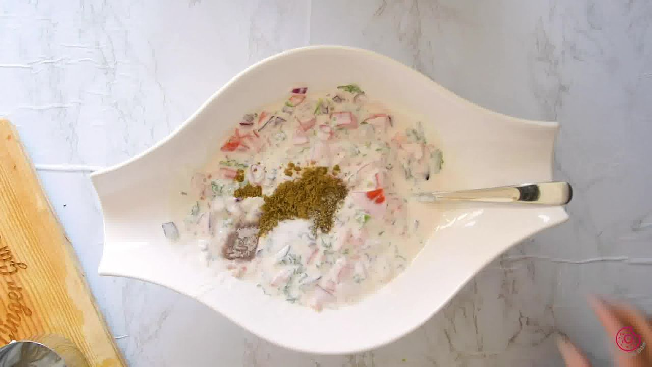 Image of the cooking step-1-4 for Onion Tomato Raita