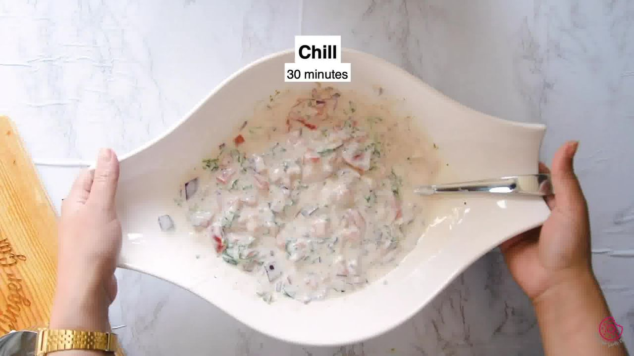 Image of the cooking step-1-5 for Onion Tomato Raita