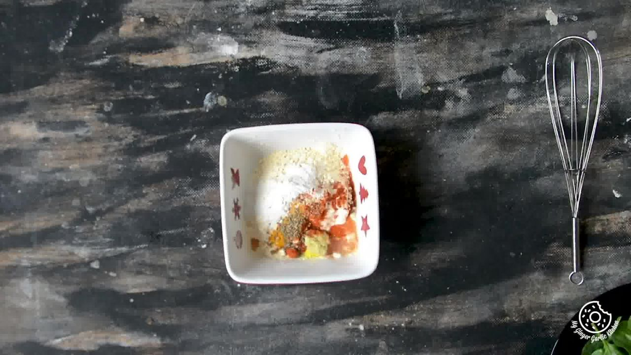 Image of the cooking step-1-1 for Palak Patta Chaat Recipe - Spinach Leaf Fritters