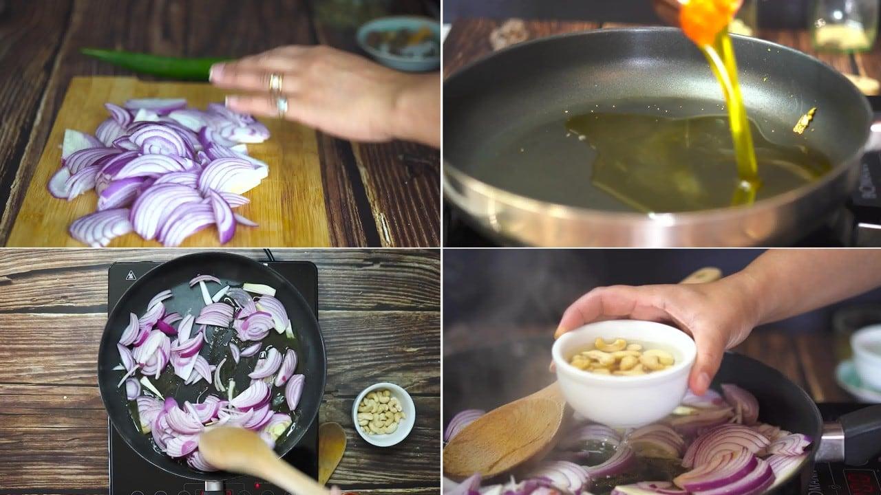 Image of the cooking step-1-2 for Paneer Korma Recipe | Shahi Paneer Korma Curry