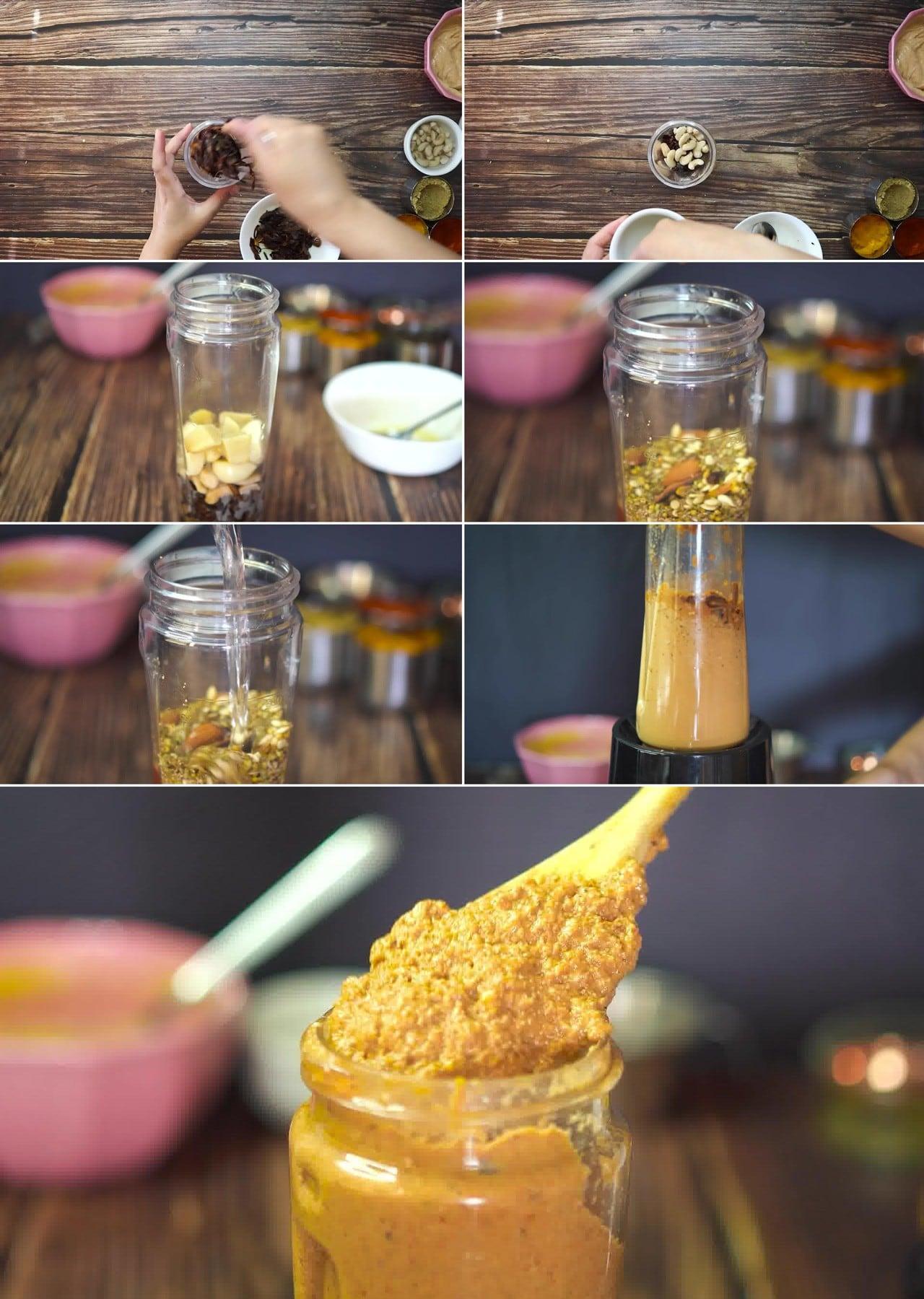 Image of the cooking step-1-4 for Paneer Korma Recipe | Shahi Paneer Korma Curry