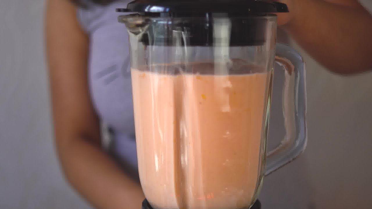 Image of the cooking step-1-4 for Papaya Shake - Papaya Smoothie