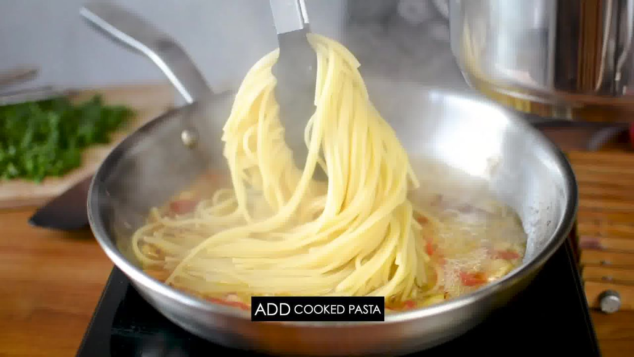 Image of the cooking step-1-9 for Pasta Aglio E Olio (Spaghetti with Oil and Garlic)