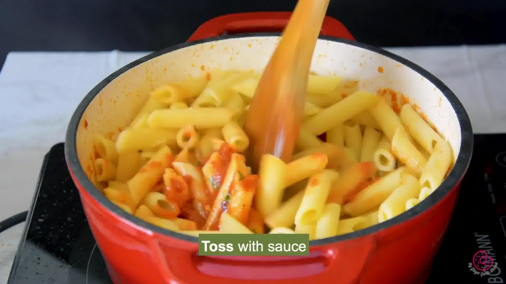 Image of the cooking step-1-10 for Penne Arrabbiata - Pasta Arrabiata