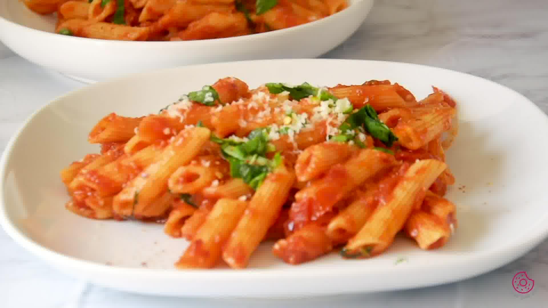 Image of the cooking step-1-12 for Penne Arrabbiata - Pasta Arrabiata