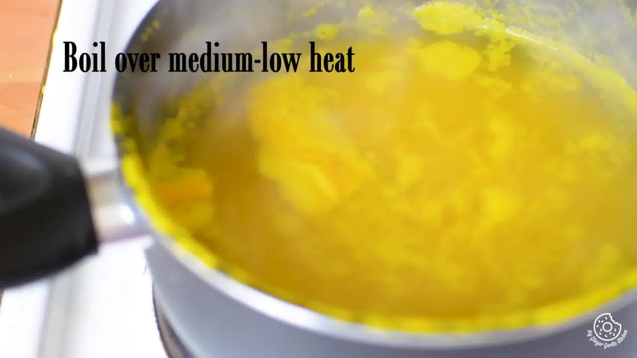 Image of the cooking step-1-5 for Paush Khichda - Sweet Khichdi (Pan, Cooker, Instant Pot)