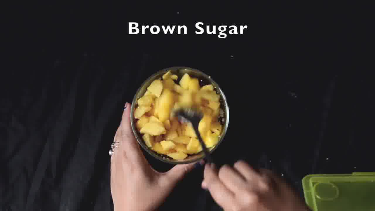 Image of the cooking step-1-2 for Eggless Peach Chocolate Brownies