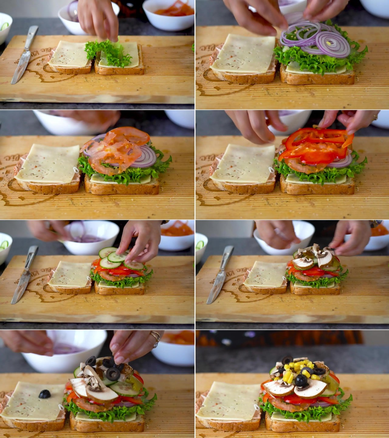Image of the cooking step-1-5 for Peanut Butter and Veggie Grilled Cheese Sandwich