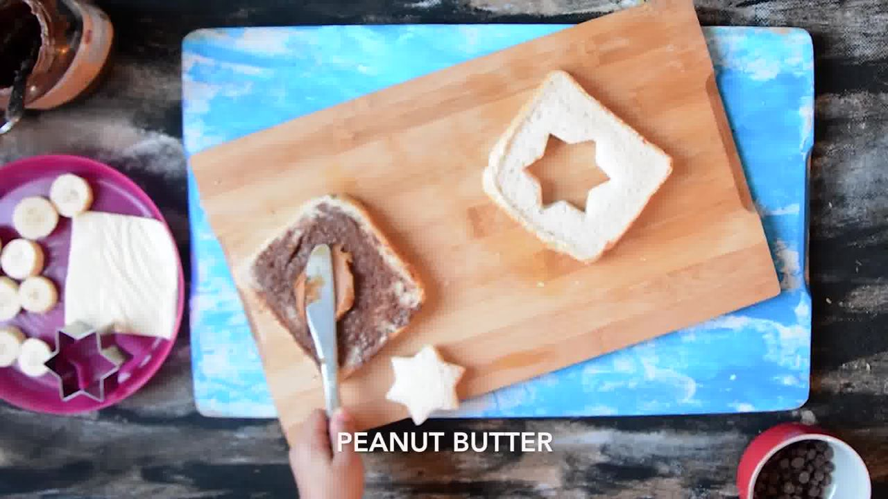 Image of the cooking step-1-3 for Peanut Butter Chocolate Banana Sandwich | Video Recipe