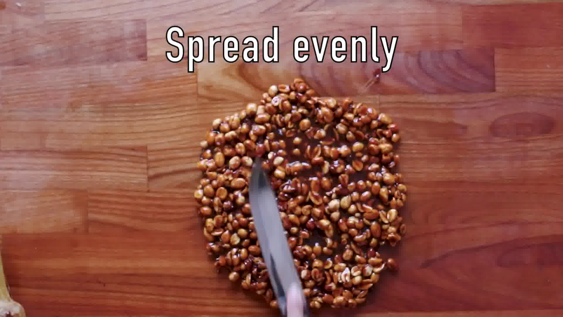 Image of the cooking step-3-5 for Peanut Chikki – Peanut Brittle
