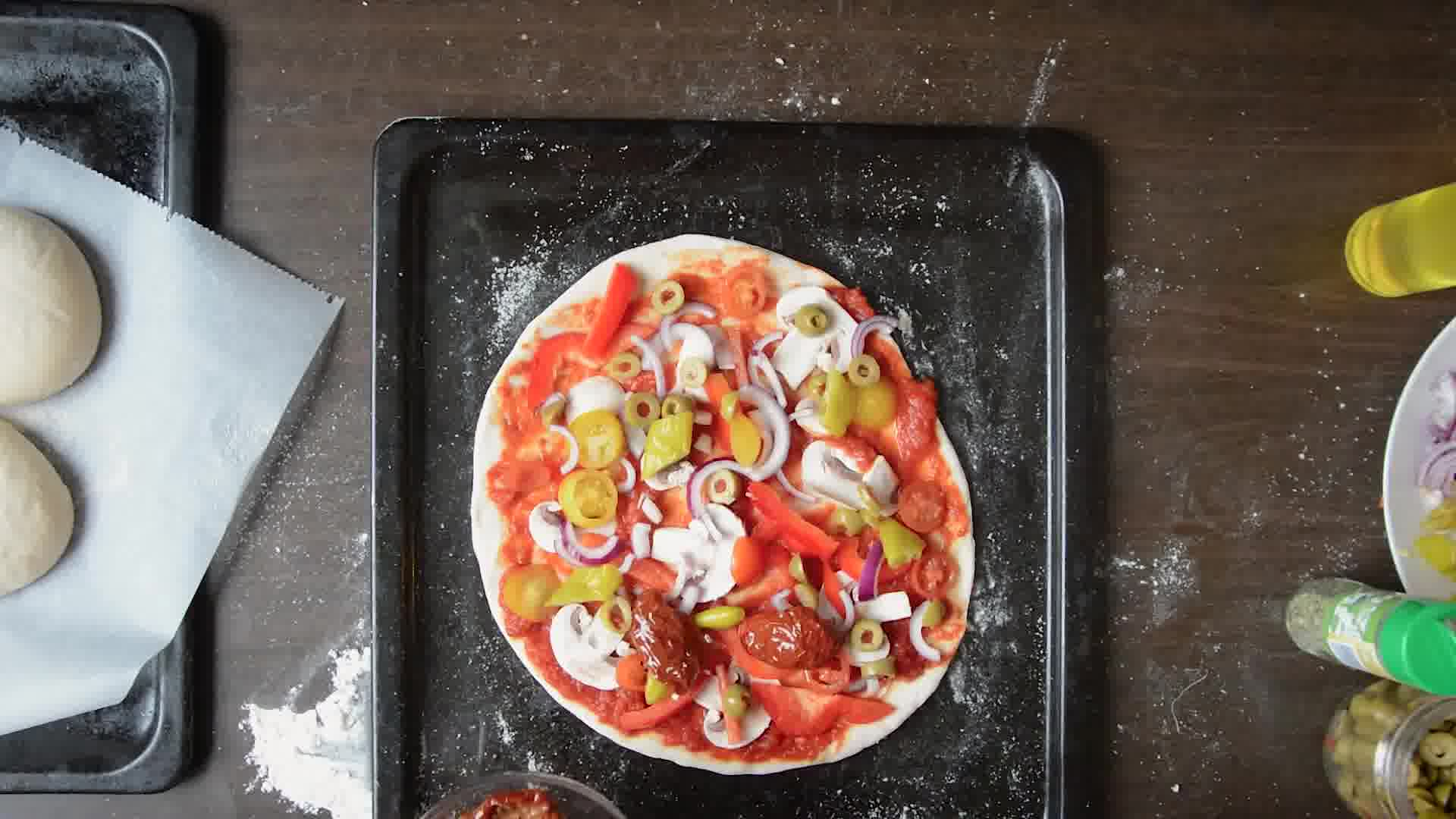 Image of the cooking step-1-15 for Perfect Vegetarian Pizza from Scratch