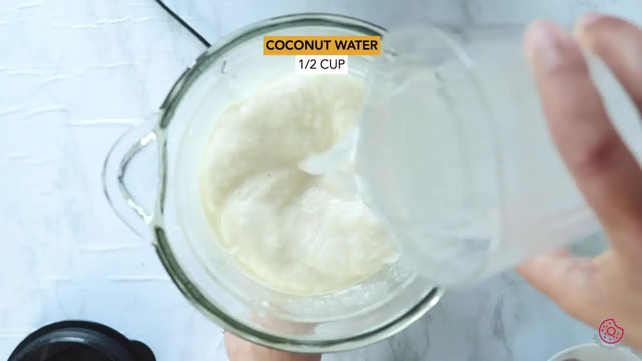 Image of the cooking step-1-2 for Pineapple Coconut Smoothie
