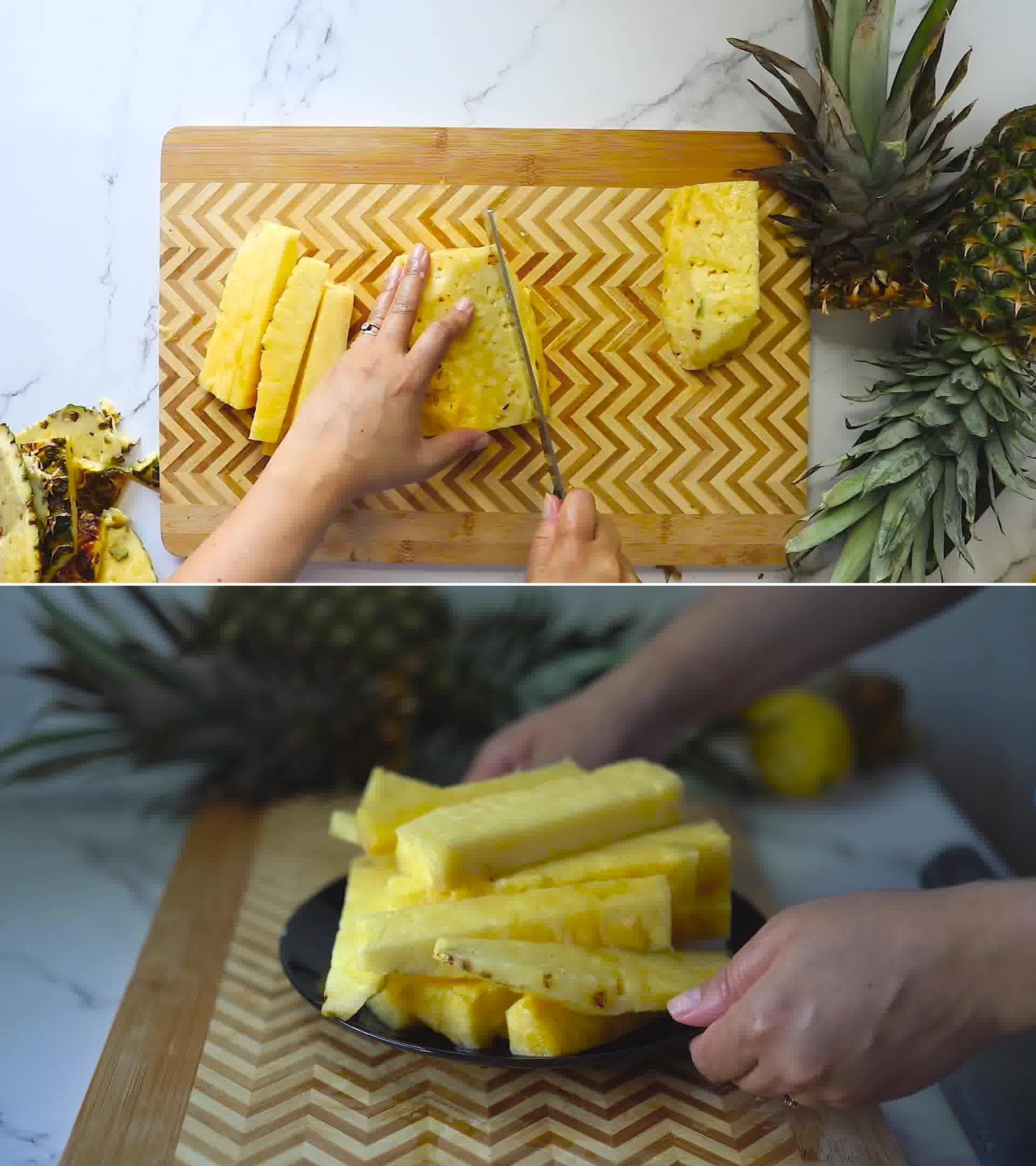 Image of the cooking step-1-3 for Homemade Pineapple Juice Recipe and It's Benefits