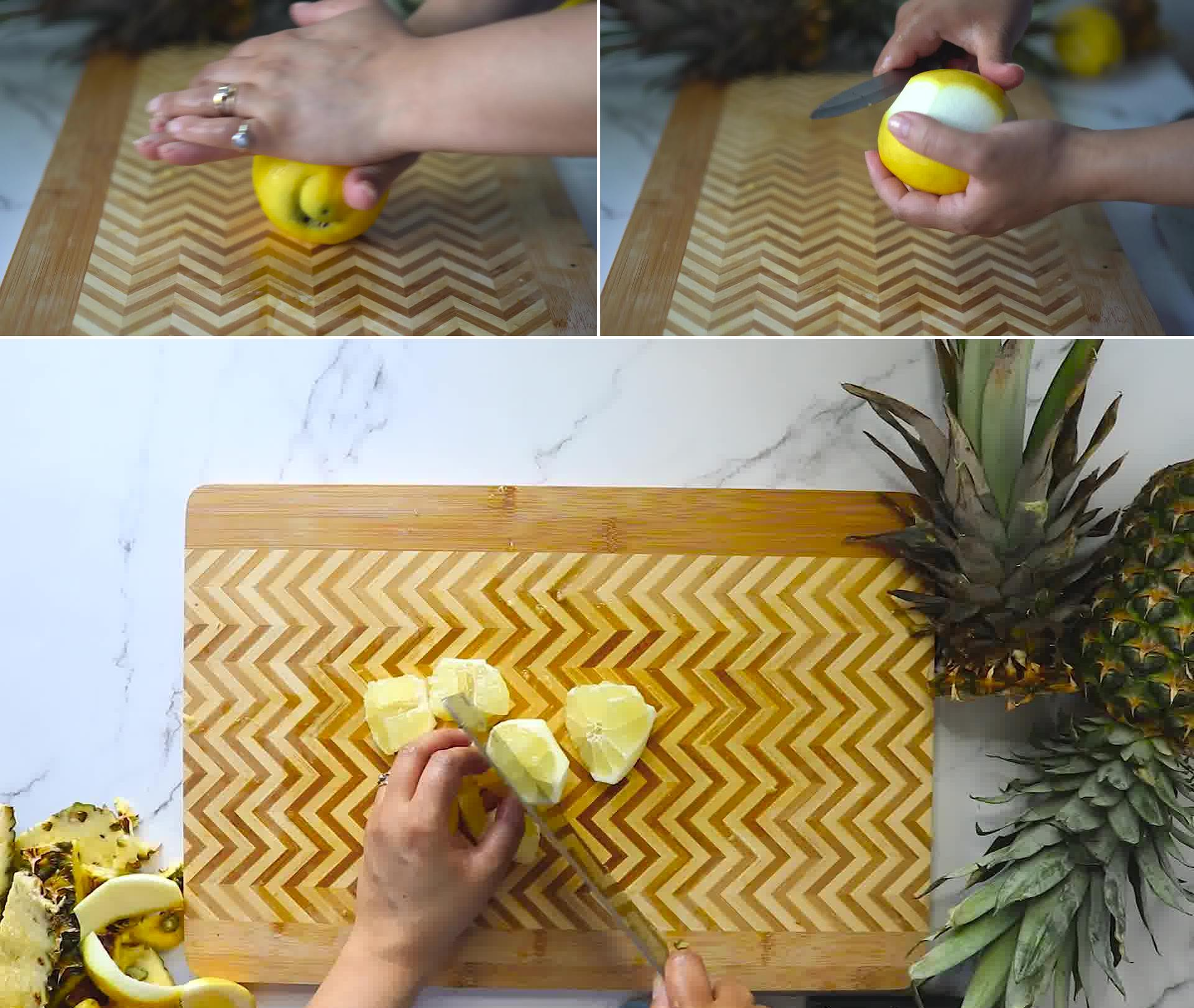 Image of the cooking step-1-4 for Homemade Pineapple Juice Recipe and It's Benefits