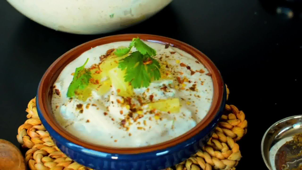Image of the cooking step-1-5 for Pineapple Raita Recipe - Ananas Raita Recipe