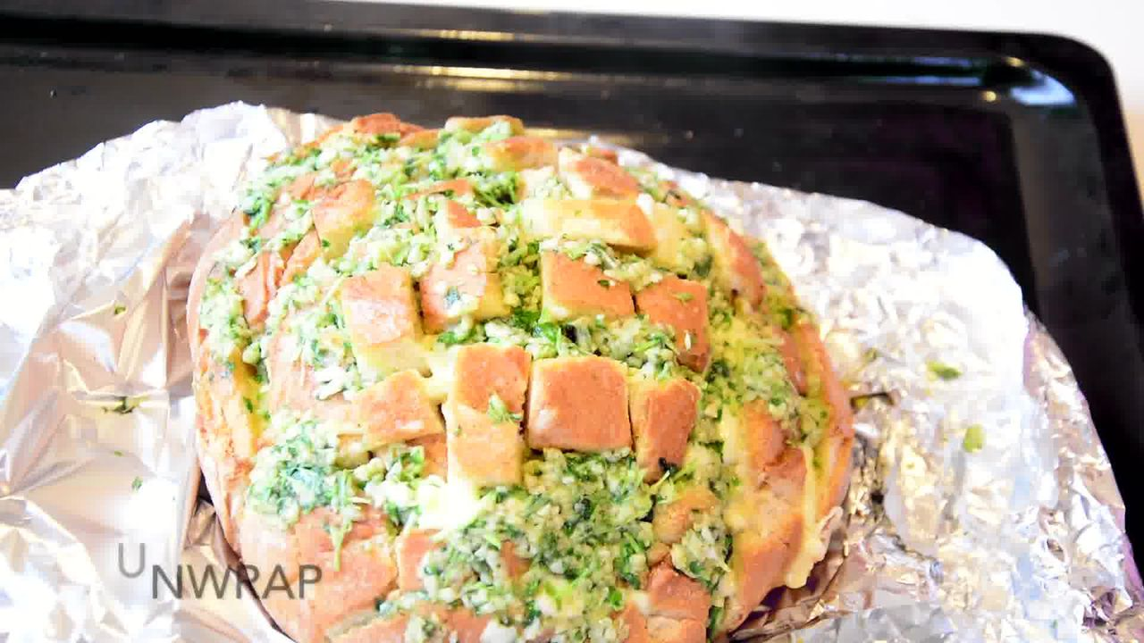 Image of the cooking step-1-10 for Pull Apart Garlic Parsley Bread [With Video]