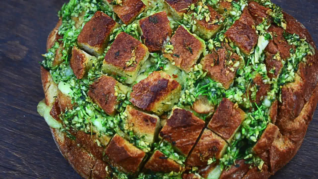 Image of the cooking step-1-11 for Pull Apart Garlic Parsley Bread [With Video]