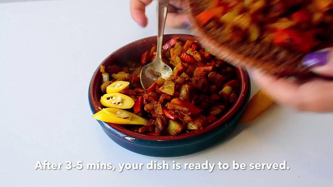 Image of the cooking step-1-10 for Pumpkin Rind Stir-Fry | Kaddu Ke Chilke is Sabji