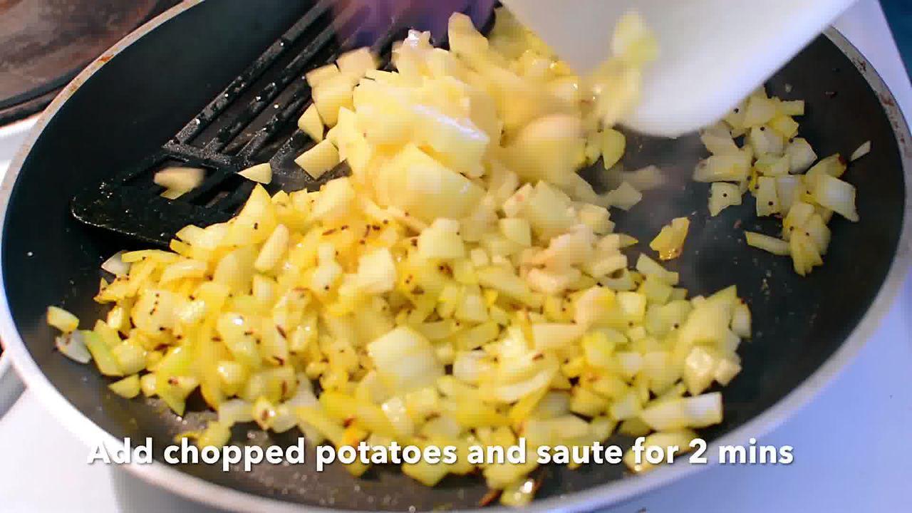 Image of the cooking step-1-5 for Pumpkin Rind Stir-Fry | Kaddu Ke Chilke is Sabji