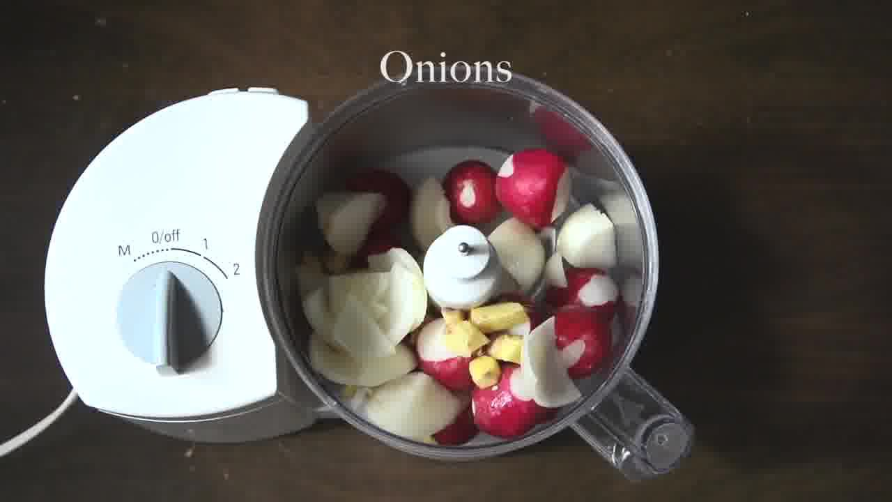 Image of the cooking step-2-1 for Radish Lentil Idli Fry + Carrot Ginger Chutney