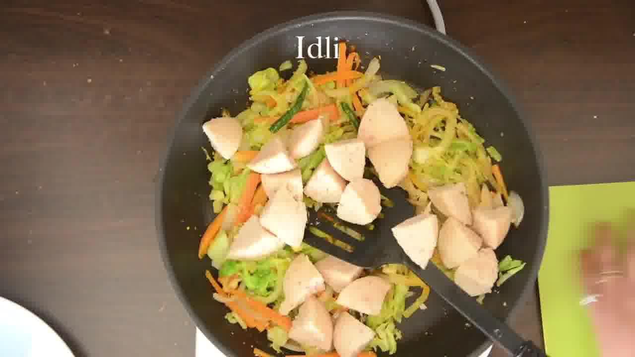 Image of the cooking step-3-6 for Radish Lentil Idli Fry + Carrot Ginger Chutney