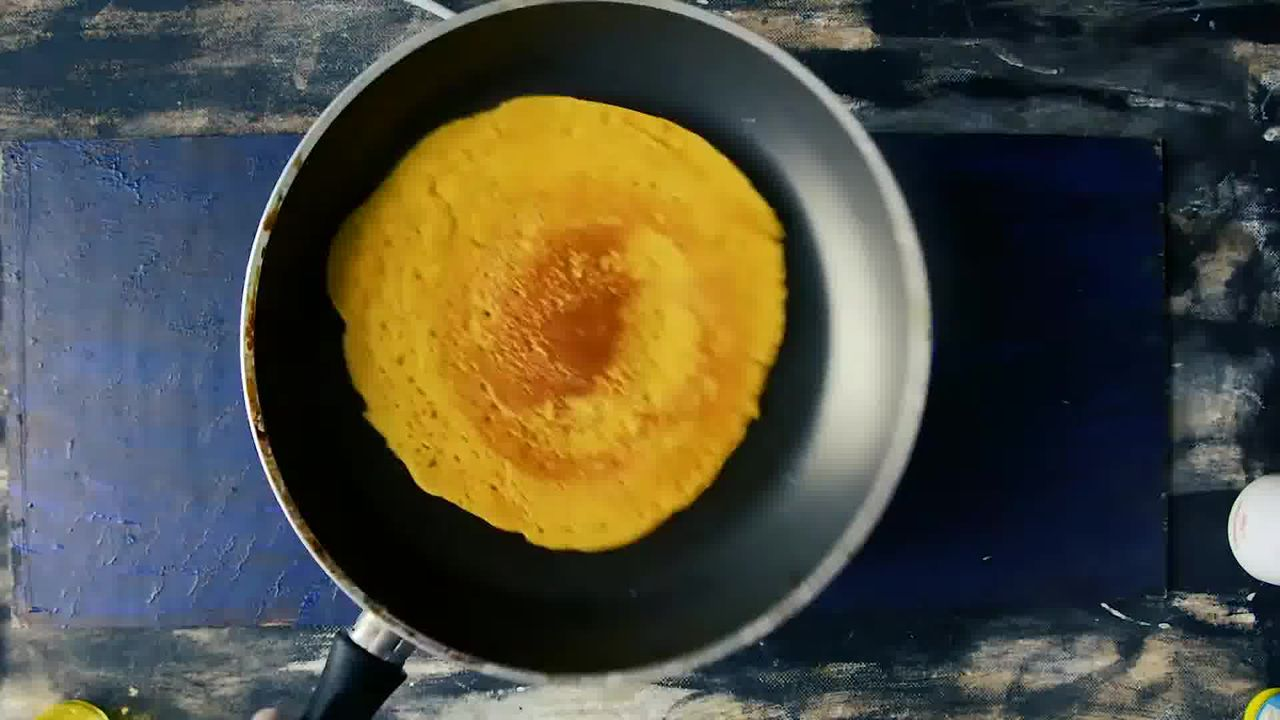 Image of the cooking step-2-6 for Besan Ke Cheele Ka Raita - Chickpea Pancake Yogurt