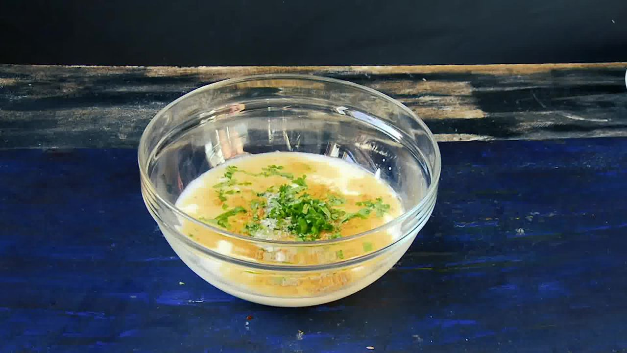 Image of the cooking step-3-1 for Besan Ke Cheele Ka Raita - Chickpea Pancake Yogurt