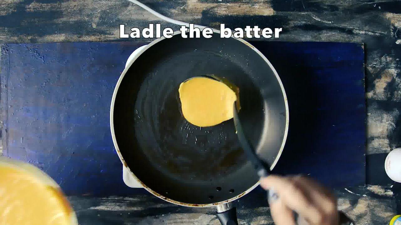 Image of the cooking step-2-2 for Besan Ke Cheele Ki Sabzi - Chickpea Pancake Curry