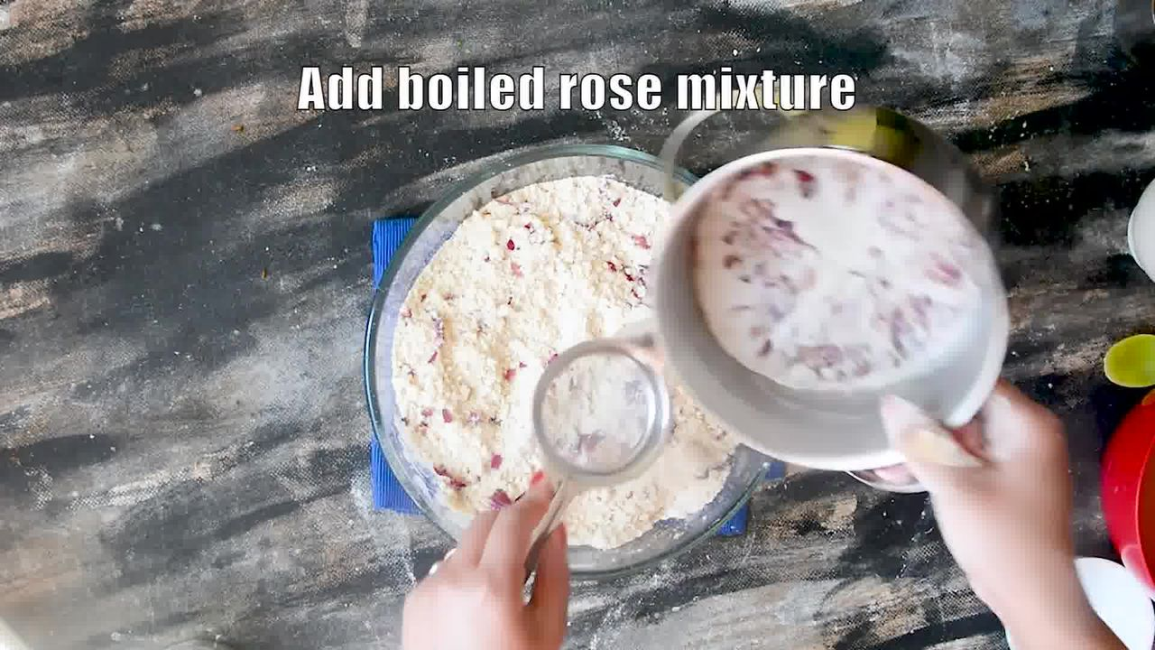 Image of the cooking step-1-6 for Rajasthani Gulab Churma Recipe - Rose Choorma Without Oven