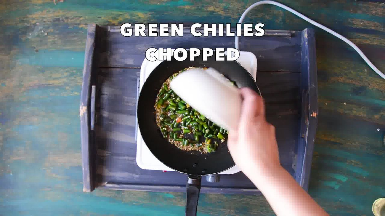 Image of the cooking step-1-3 for Rajasthani Mirchi ke Tipore – Instant Green Chili Pickle