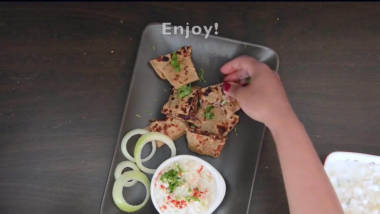 Image of the cooking step-4-10 for Rajma Tofu Paratha Pocket Bites With Boondi Raita