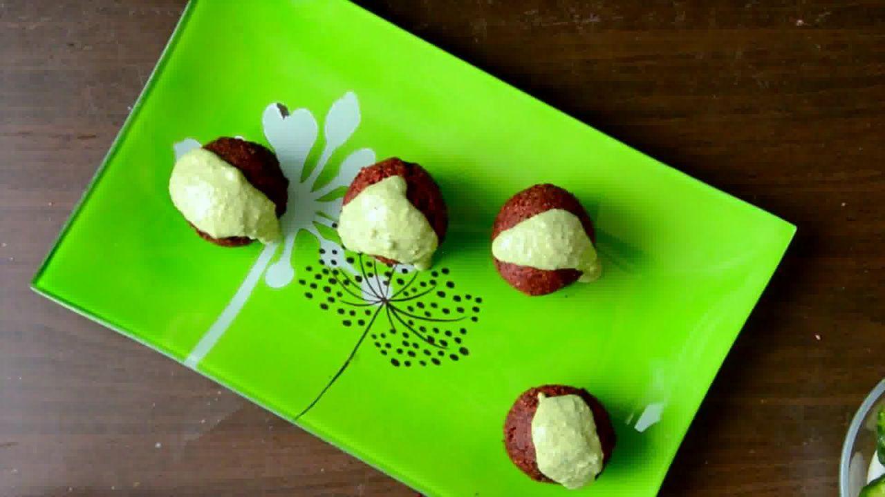 Image of the cooking step-3-9 for Roast Beetroot Falafel Recipe + Green Tahini Dip