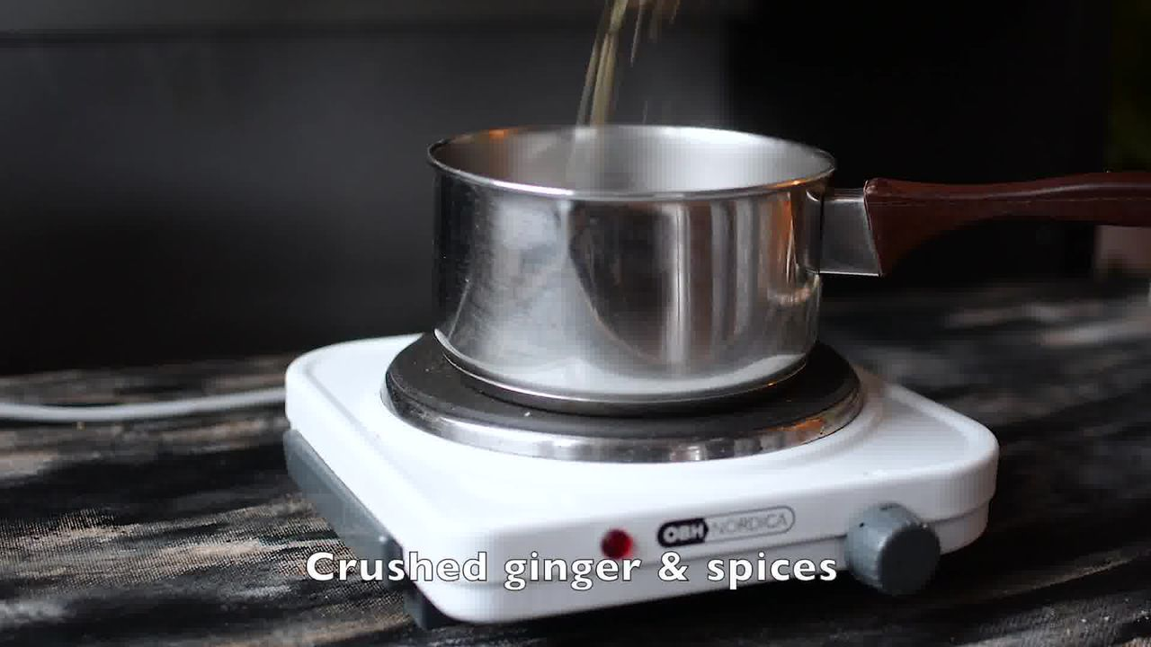 Image of the cooking step-1-3 for Rose Masala Chai Recipe - How to Make Rose Tea