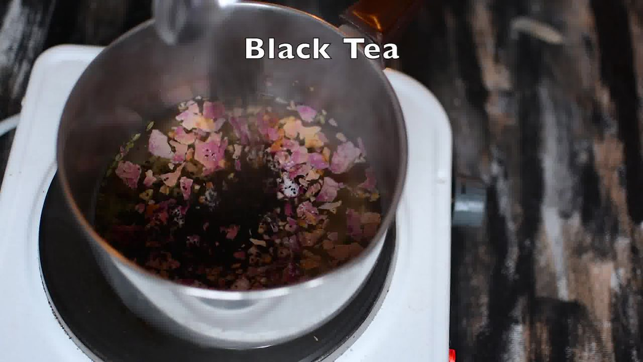 Image of the cooking step-1-4 for Rose Masala Chai Recipe - How to Make Rose Tea