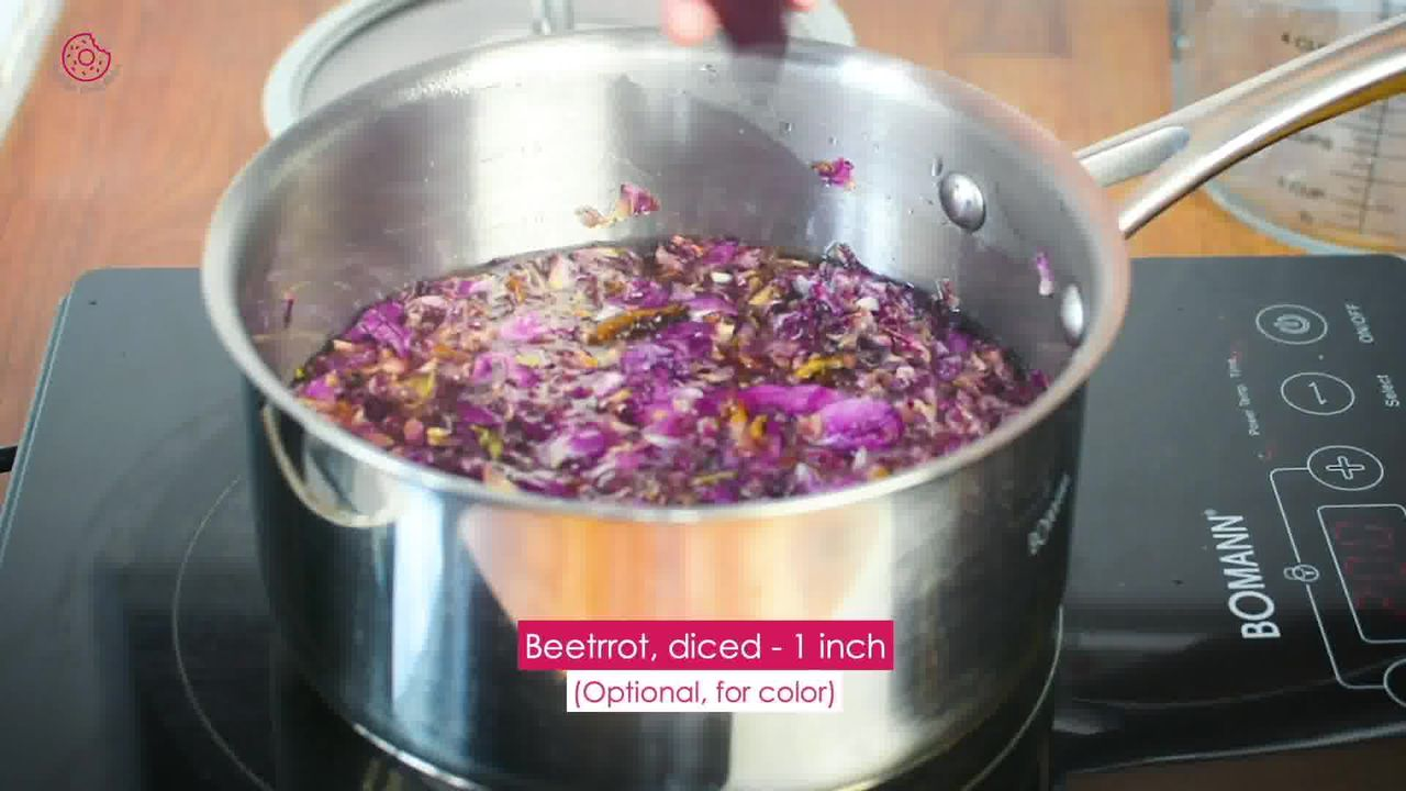 Image of the cooking step-1-4 for How to make Rose Syrup