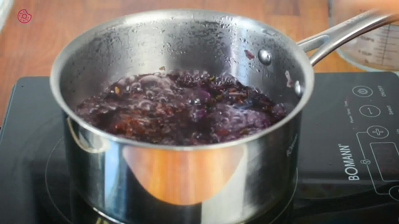 Image of the cooking step-1-6 for How to make Rose Syrup