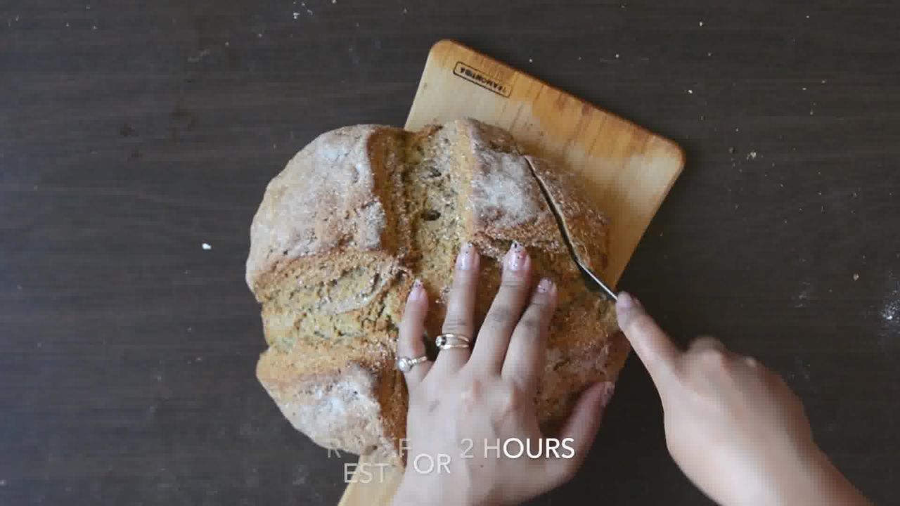 Image of the cooking step-1-10 for Quick Rye Irish Soda Bread Recipe Video