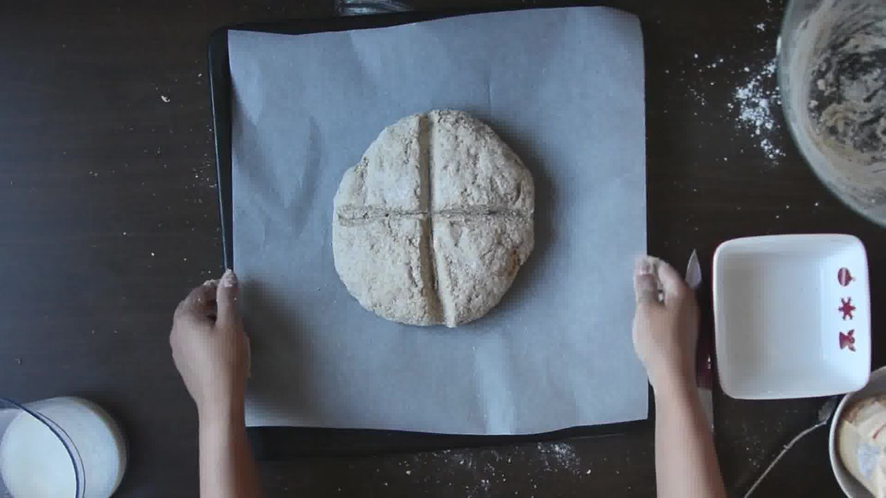 Image of the cooking step-1-8 for Quick Rye Irish Soda Bread Recipe Video