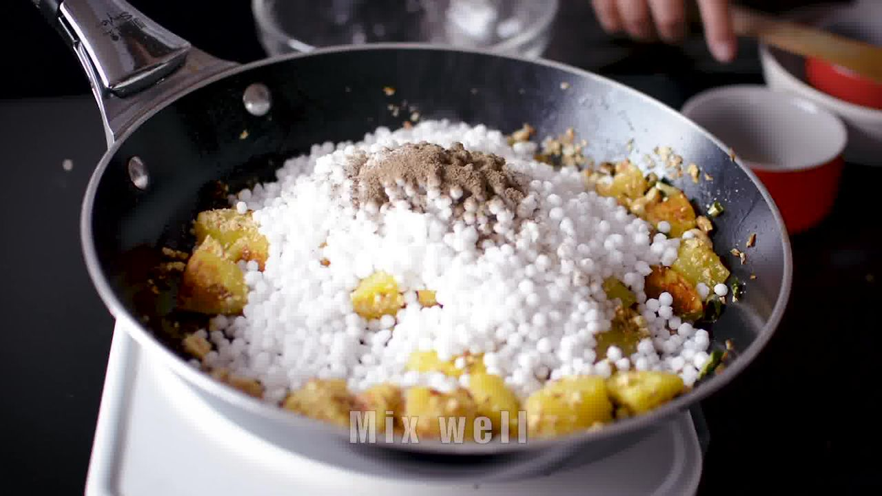 Image of the cooking step-2-7 for Sabudana Khichdi - Tapioca Pearl Stir-Fry