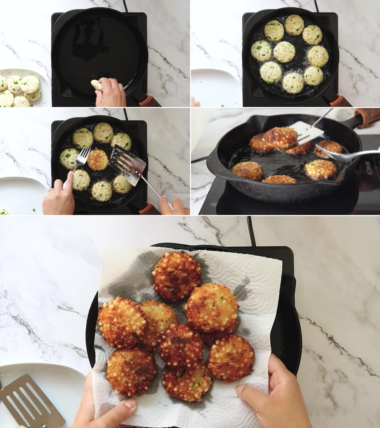 Image of the cooking step-2-1 for Sabudana Vada (Fried, Baked & Air Fryer Version)