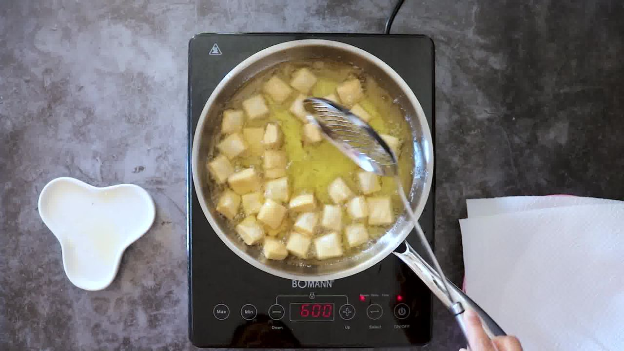Image of the cooking step-2-2 for Shakkarpara + Shankarpali (Fried, Air Fryer, and Baked Recipe)