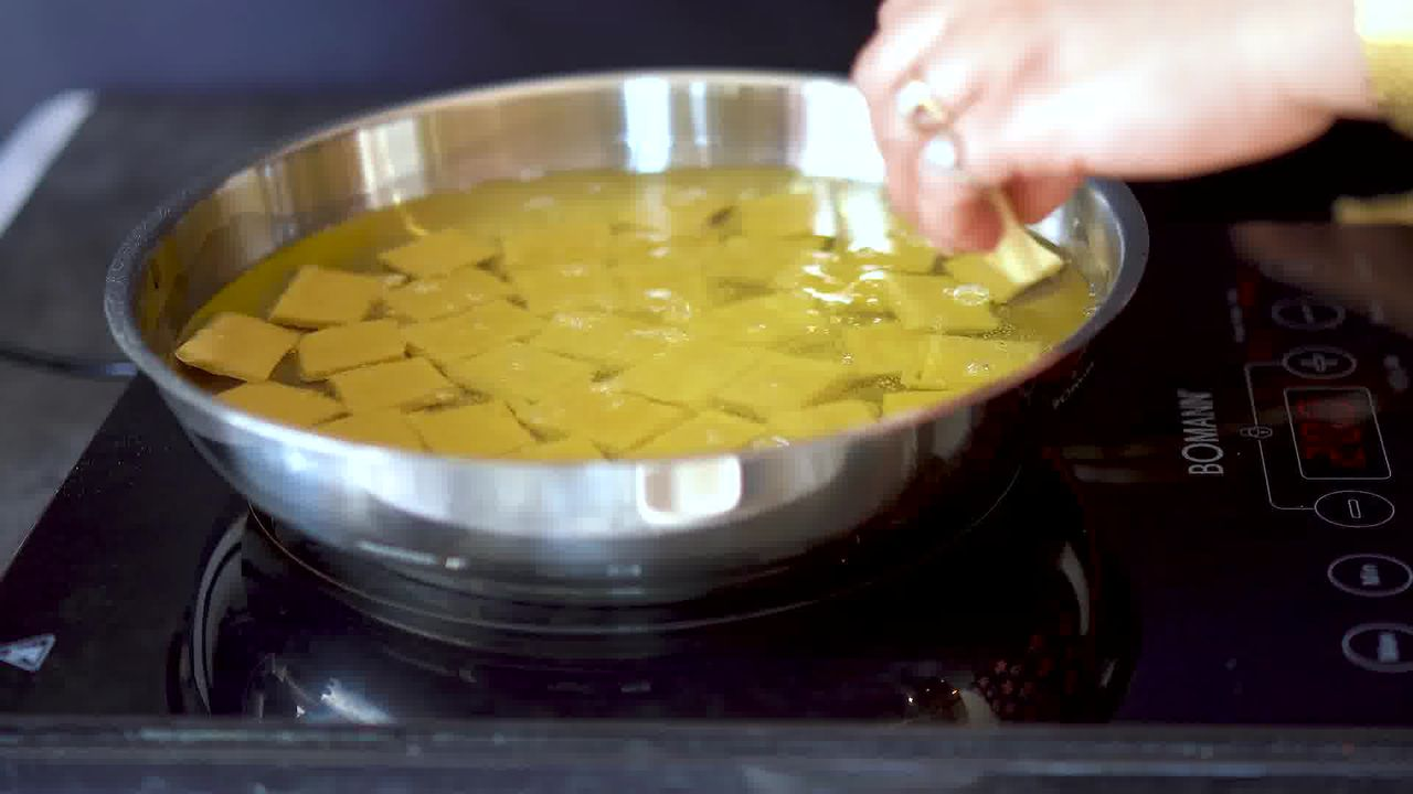 Image of the cooking step-8-1 for Shakkarpara + Shankarpali (Fried, Air Fryer, and Baked Recipe)