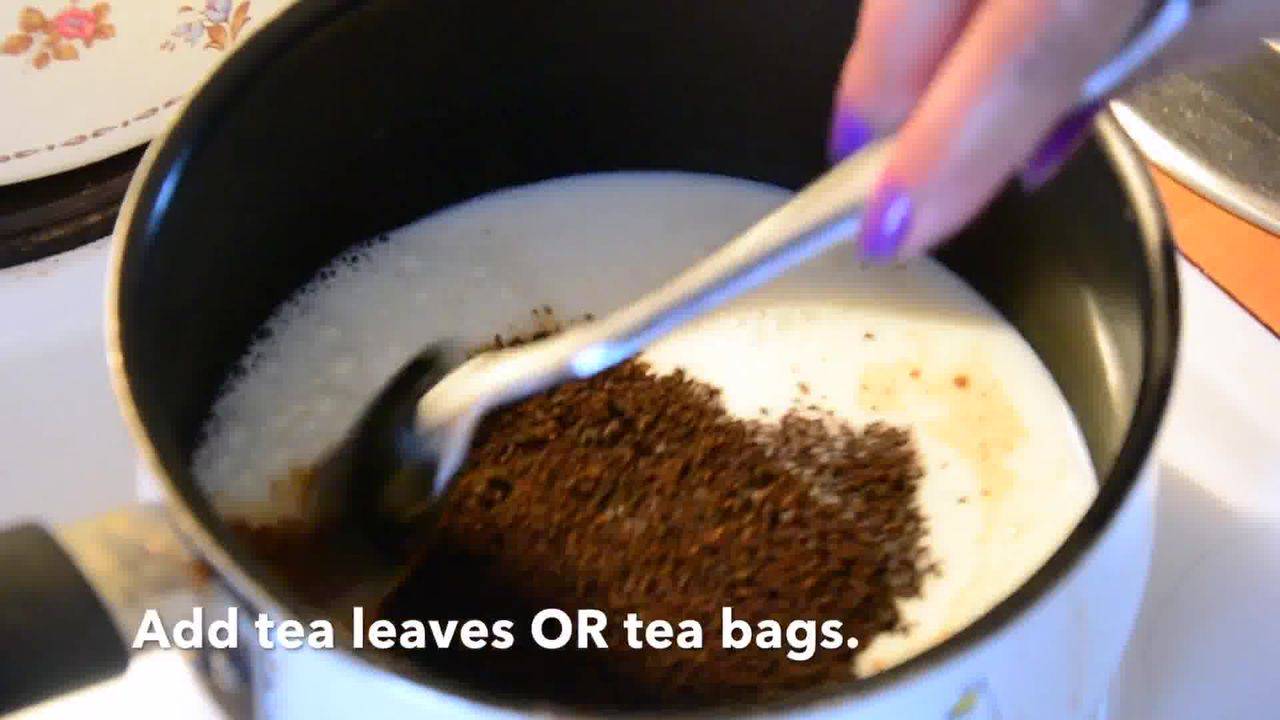 Image of the cooking step-1-1 for Spiced Pumpkin Chai Latte Smoothie Recipe