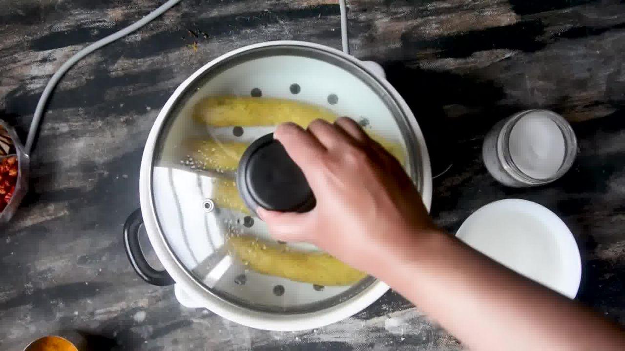 Image of the cooking step-1-10 for Steamed Besan Gatte Ki Sabzi - Rajasthani Adhar Bele