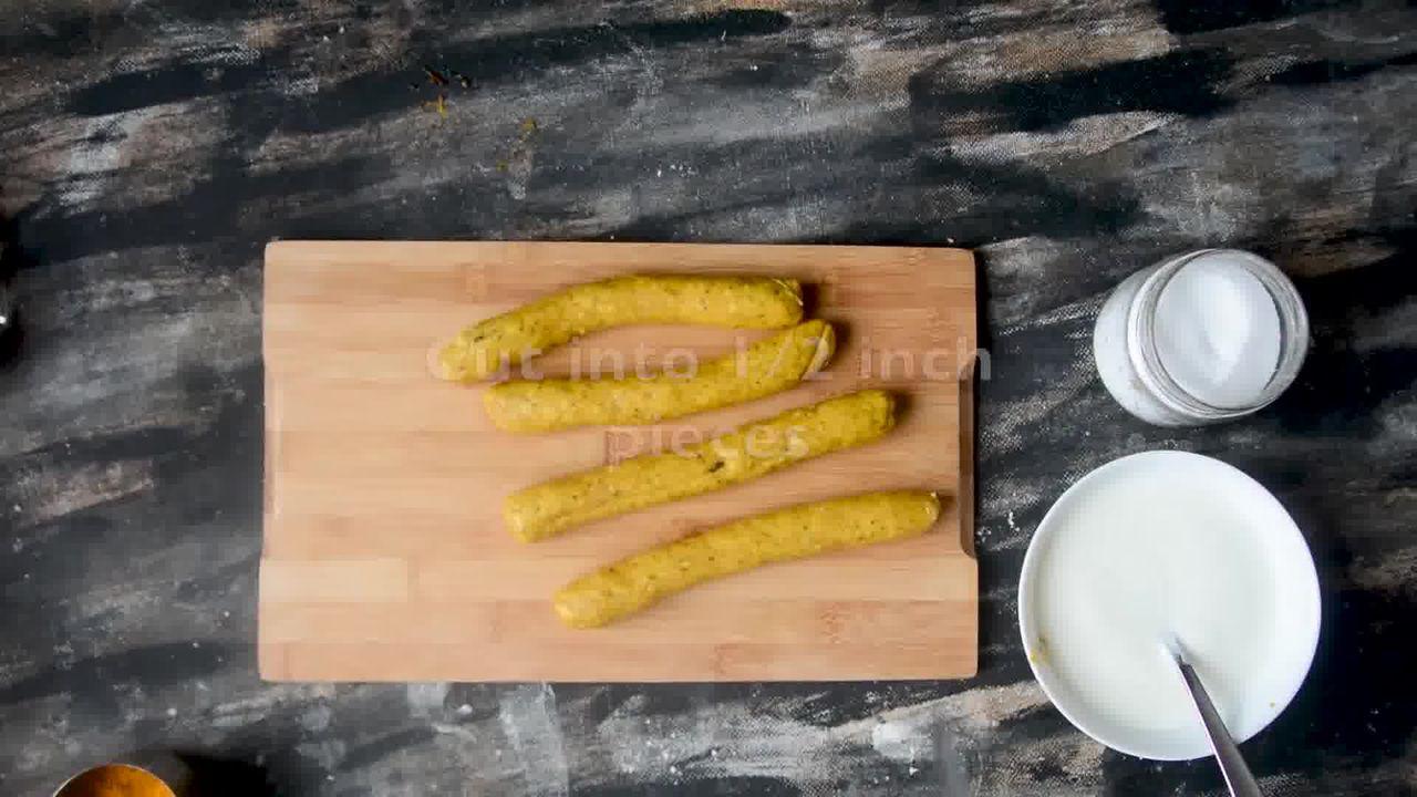 Image of the cooking step-1-11 for Steamed Besan Gatte Ki Sabzi - Rajasthani Adhar Bele