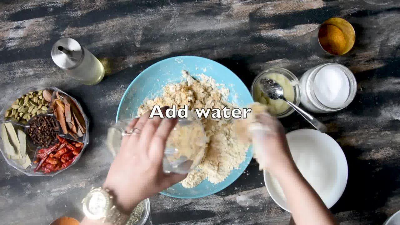 Image of the cooking step-1-4 for Steamed Besan Gatte Ki Sabzi - Rajasthani Adhar Bele